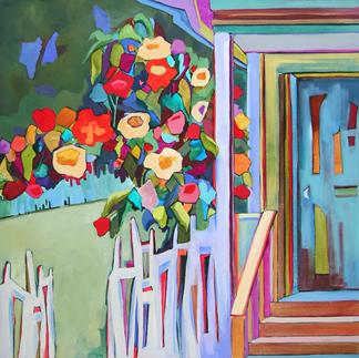 contemporary urban scene by Carolee Clark