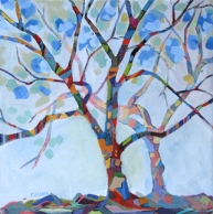 abstracted tree painting by Carolee Clark