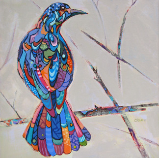 abstract bird painting by Carolee Clark