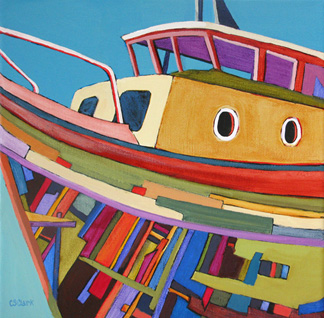 boat painting by Carolee Clark