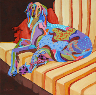 dog painting by Carolee Clark