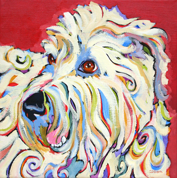 contemporary dog painting by Carolee Clark