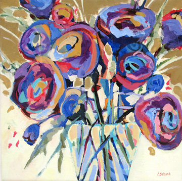 contemporary floral painting by Carolee Clark