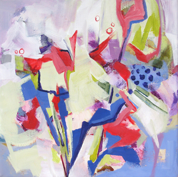 contemporary floral abstract by Carolee Clark
